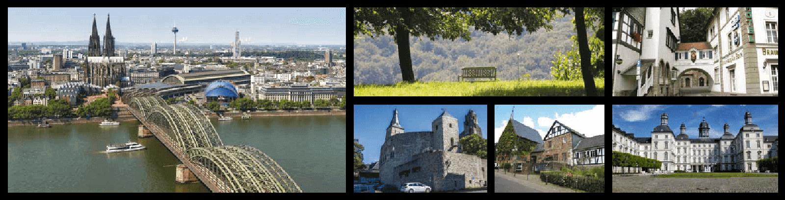 Städte und Natur um die Eigentumgswohnungen