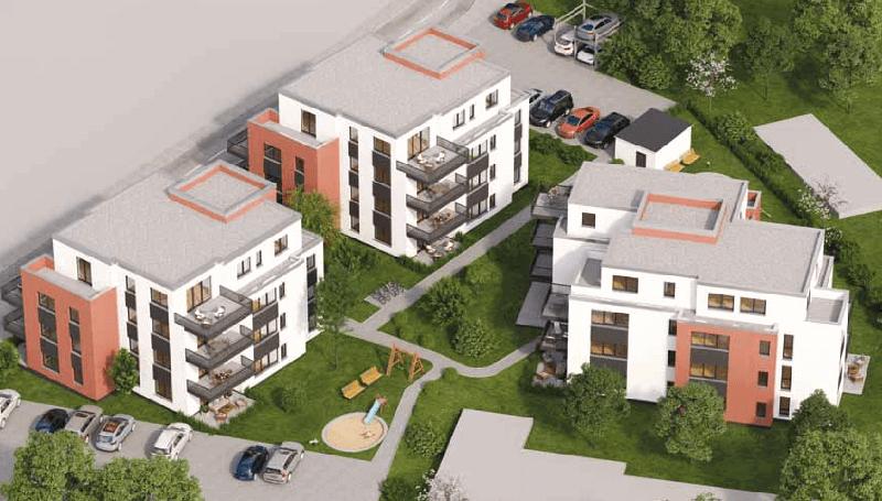 Eigentumswohnungen Kuhler Höfe Rendering von oben
