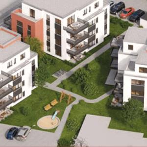 attraktive Nachbarschaft um der Eigentumswohnungen